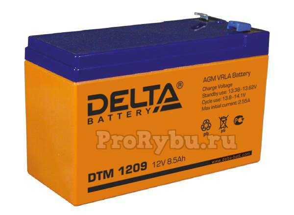 Аккумулятор для эхолота Delta DTM 1209