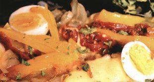 Запеканка с рыбой, кукурузой и перцем