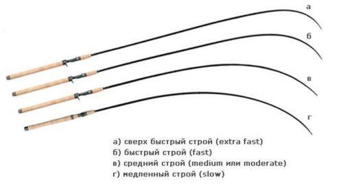 строй спиннинга – основные виды