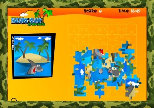 Пазл рыбалка | Райский остров играть онлайн