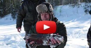 Ловля налима зимой на Енесее