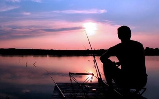 на рыбалке фото
