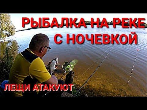 ВИДЕО: Рыбалка на реке с ночевкой.Новое место.Лещи атакуют!