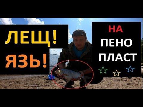 ВИДЕО: Язь и Лещ на пенопласт Рыбалка в Сибири