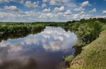 Река Омь фото