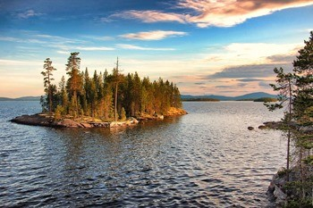 Озеро Ковдозеро фото