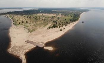 Река Волга, остров Сарпинский