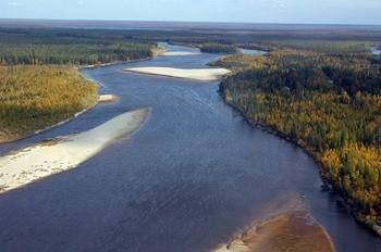 Река Пур фото