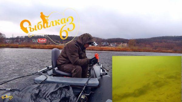 ВИДЕО: Спиннинг поздней осенью, щука берет на мелкую резину, опустил камеру Calypso под воду