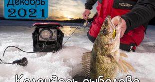 ДЕКАБРЬ 2021 Календарь рыболова