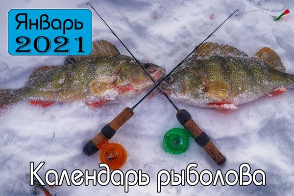 ЯНВАРЬ Календарь рыболова